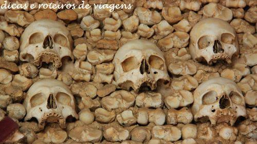 Detalhe da Capela dos Ossos de Faro