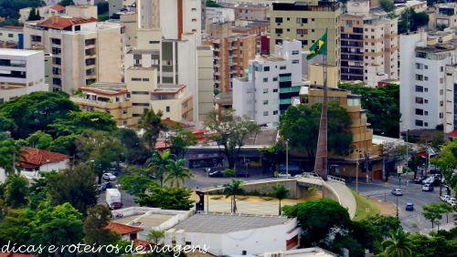 Praça da Bandeira vista do Mirante do Mangabeiras