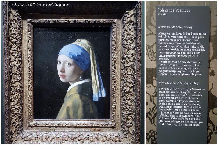 a moça do brinco de pérola de Vermeer