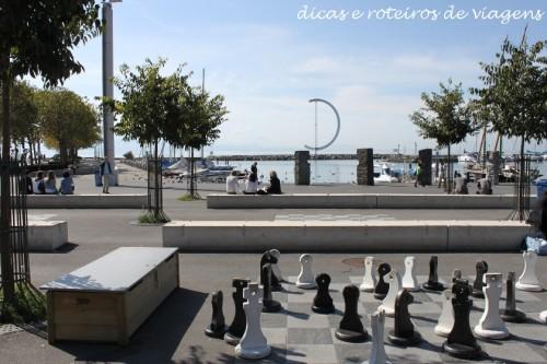 Lago Léman em Lausanne