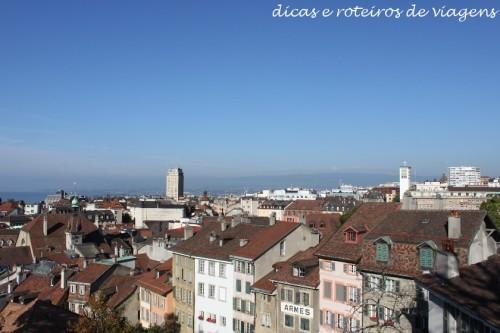 Vista da cidade chegando na catedral