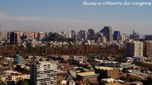 Vista de Santiago de dentro do funicular