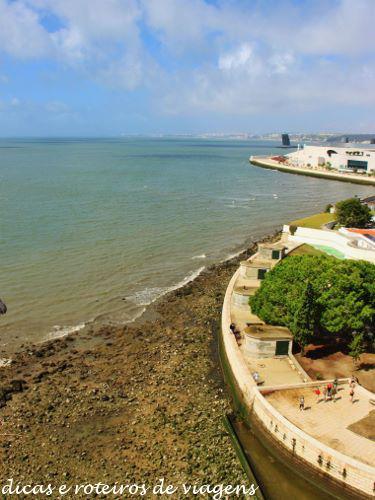Vista de cima da Torre de Belém