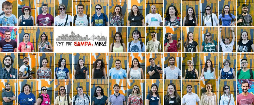 Participantes do Vem pra Sampa, meu!