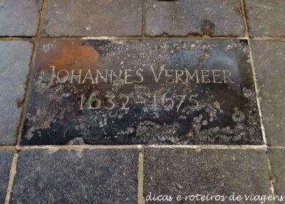 Lápide antiga do Vermeer
