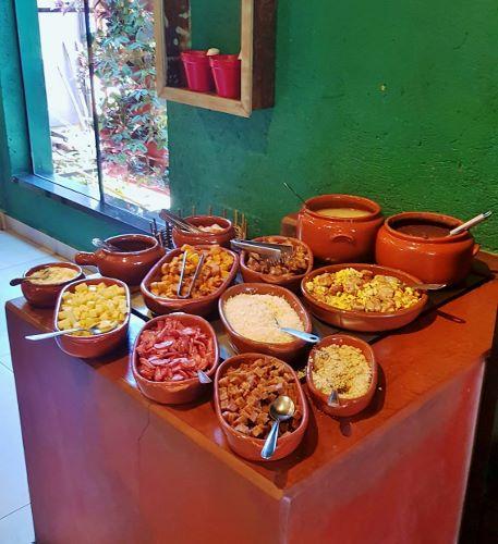 Buffet do Restaurante Veneza em Nova Veneza